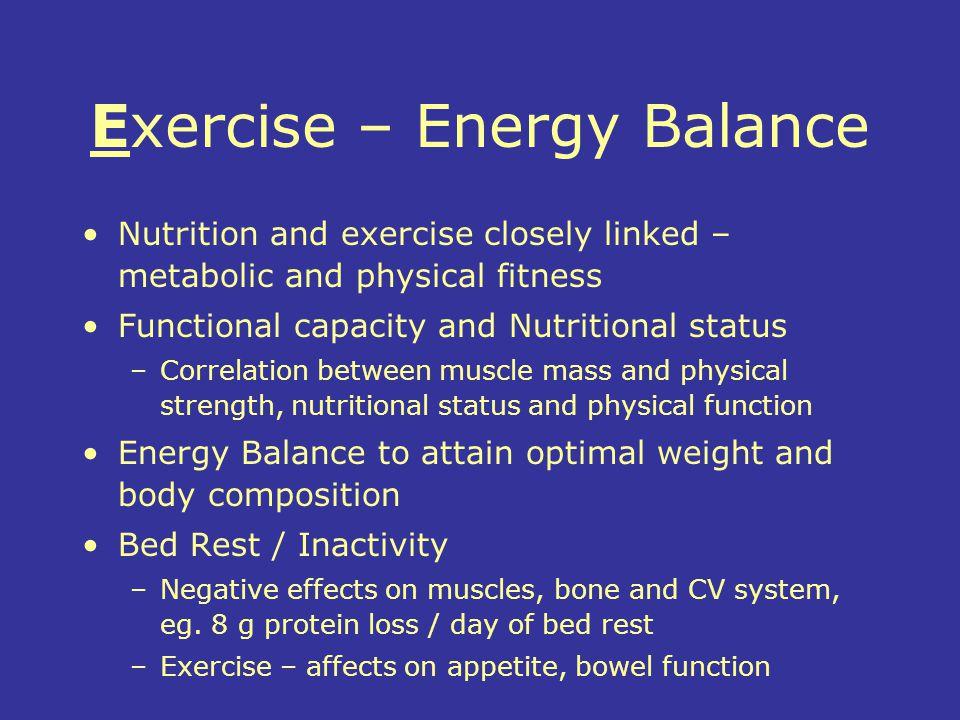 Exercise – Energy Balance