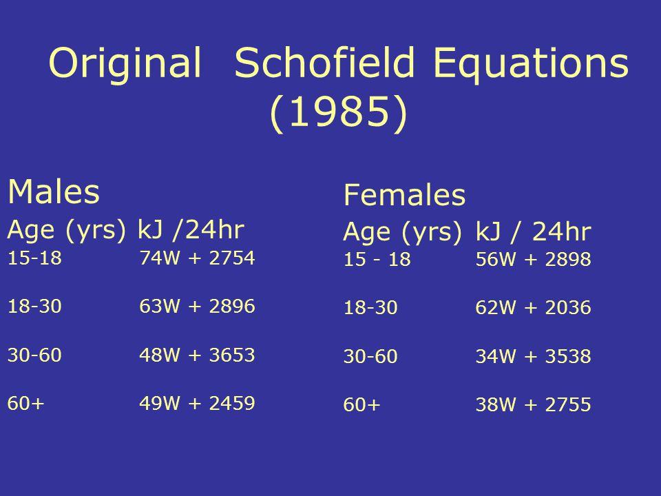 Original Schofield Equations (1985)