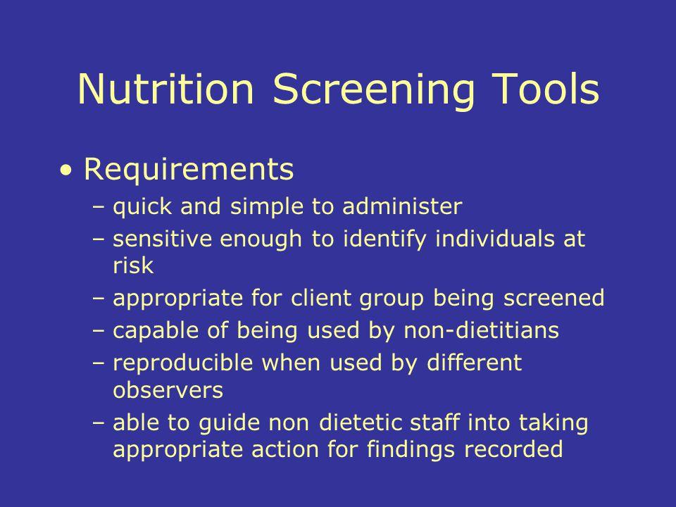 Nutrition Screening Tools
