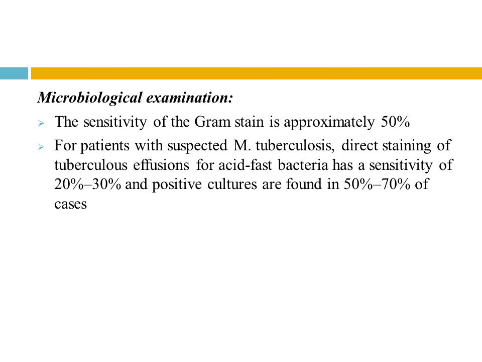 Microbiological examination: