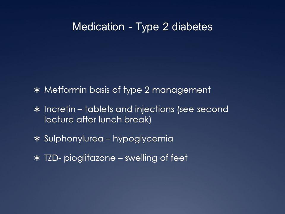 Medication - Type 2 diabetes