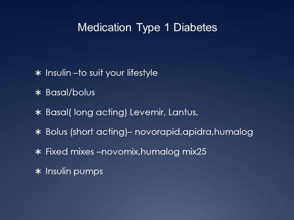 Medication Type 1 Diabetes