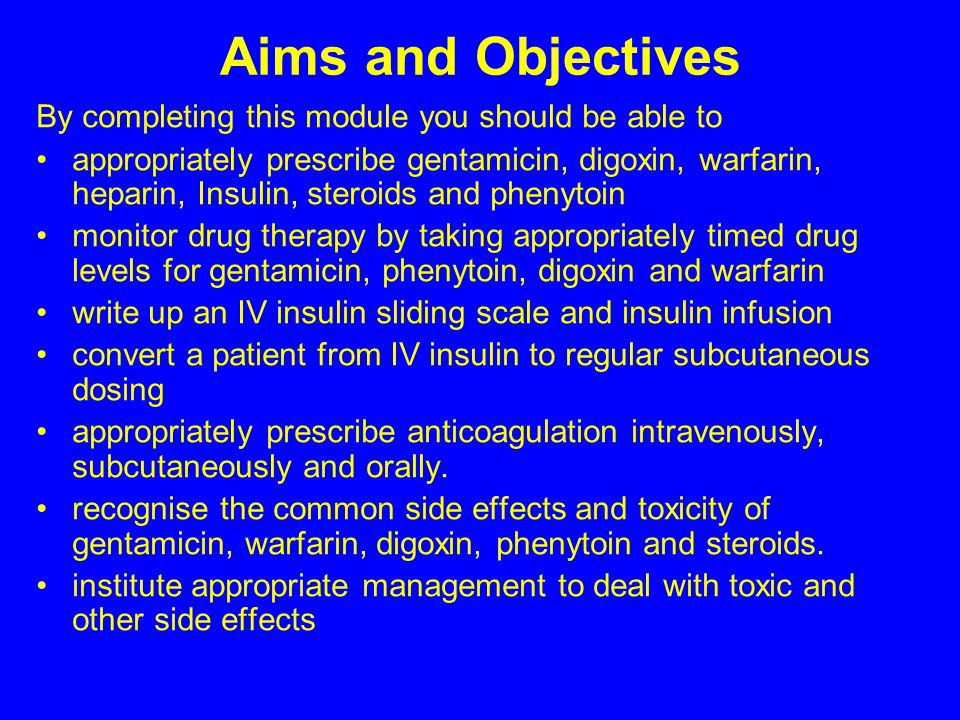 Aims and Objectives By completing this module you should be able to