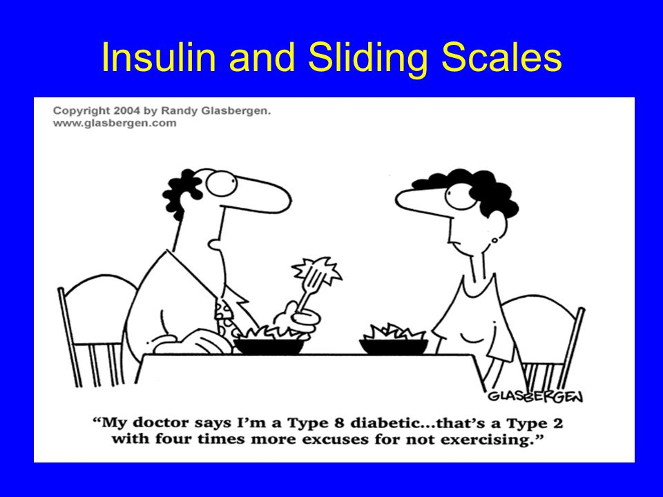 Insulin and Sliding Scales
