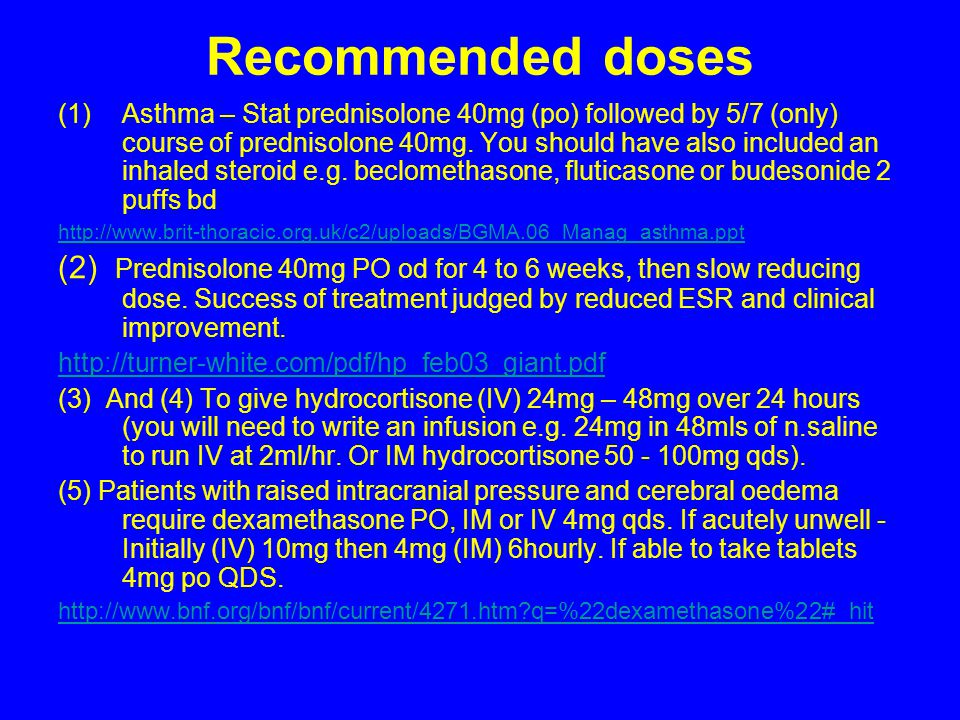 Recommended doses