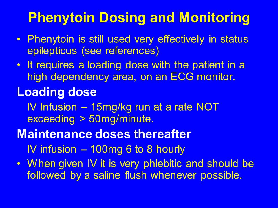 Phenytoin Dosing and Monitoring
