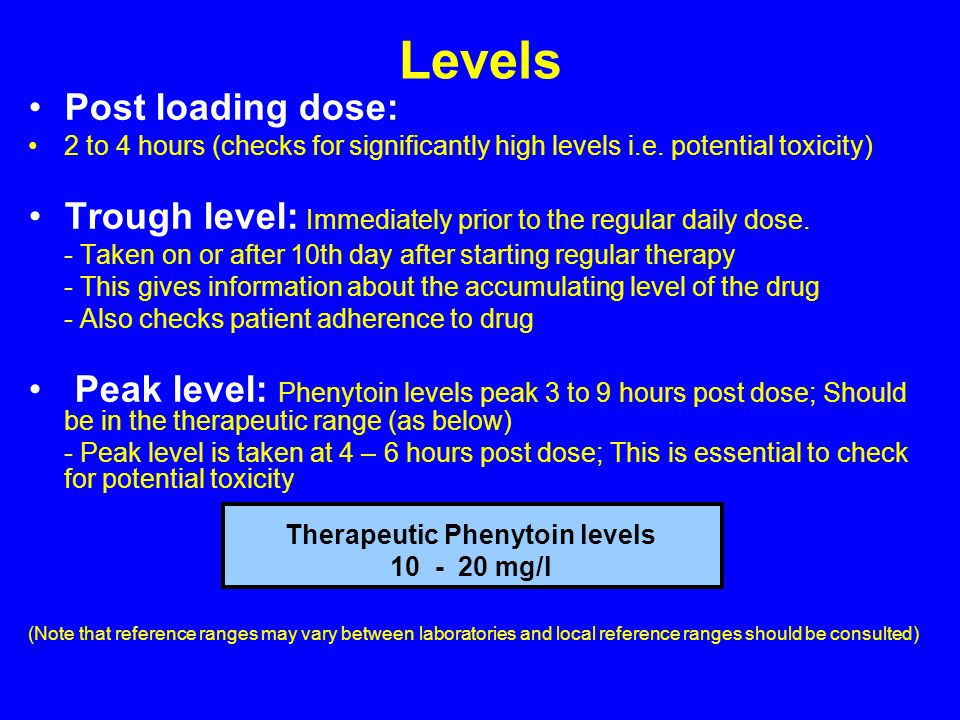 Therapeutic Phenytoin levels