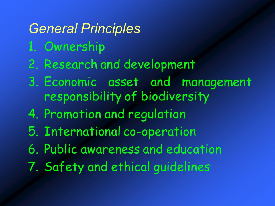 General Principles Ownership Research and development