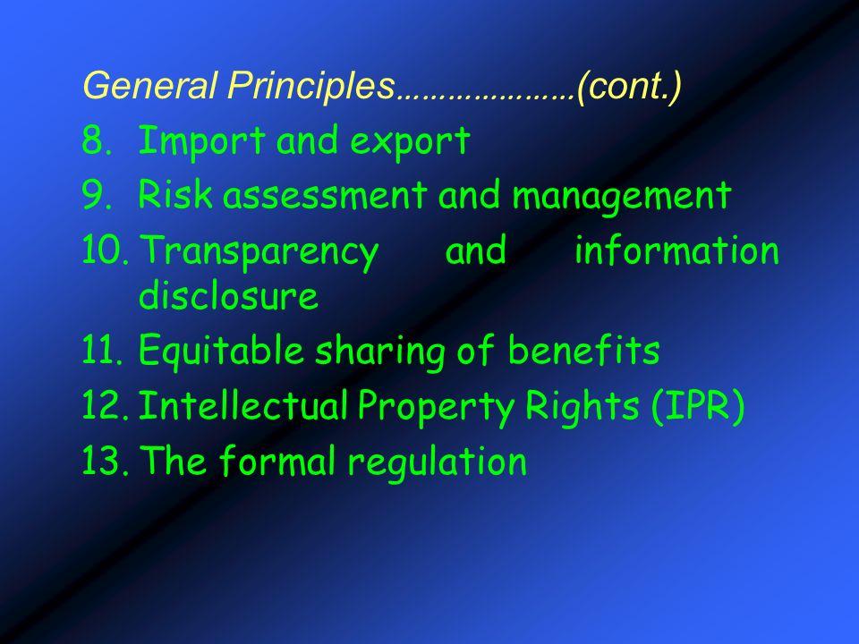 General Principles…………………(cont.)