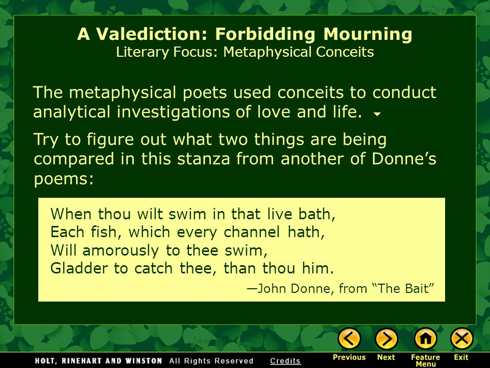 a literary analysis of a valediction of weeping by john donne Get an answer for 'what literary devices are in donne's poem a valediction: forbidding mourning' and find homework help for other john donne's songs and sonnets questions at enotes.