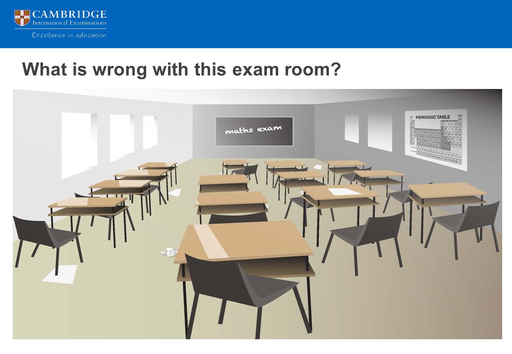 What is wrong with this exam room