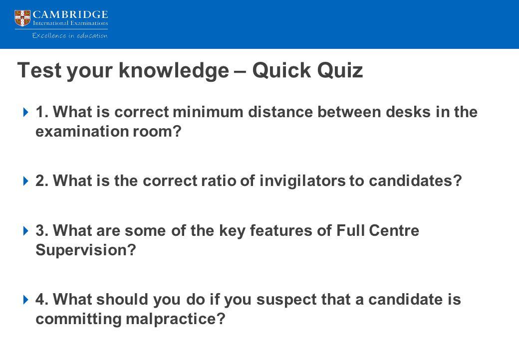 Test your knowledge – Quick Quiz
