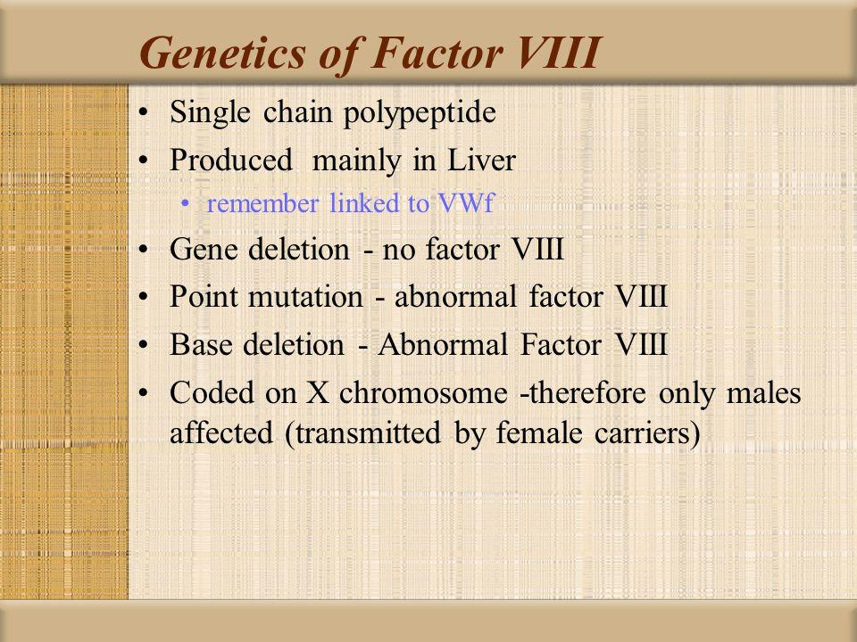 Genetics of Factor VIII