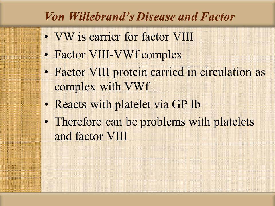 Von Willebrand's Disease and Factor
