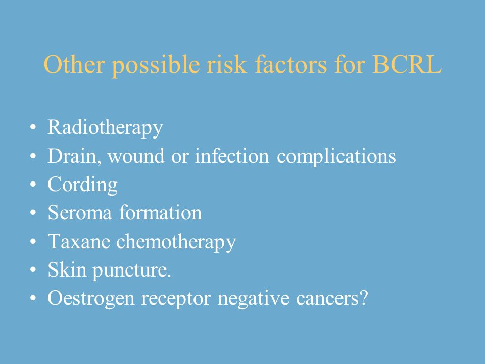 Other possible risk factors for BCRL