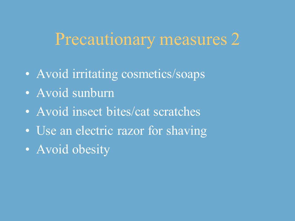Precautionary measures 2