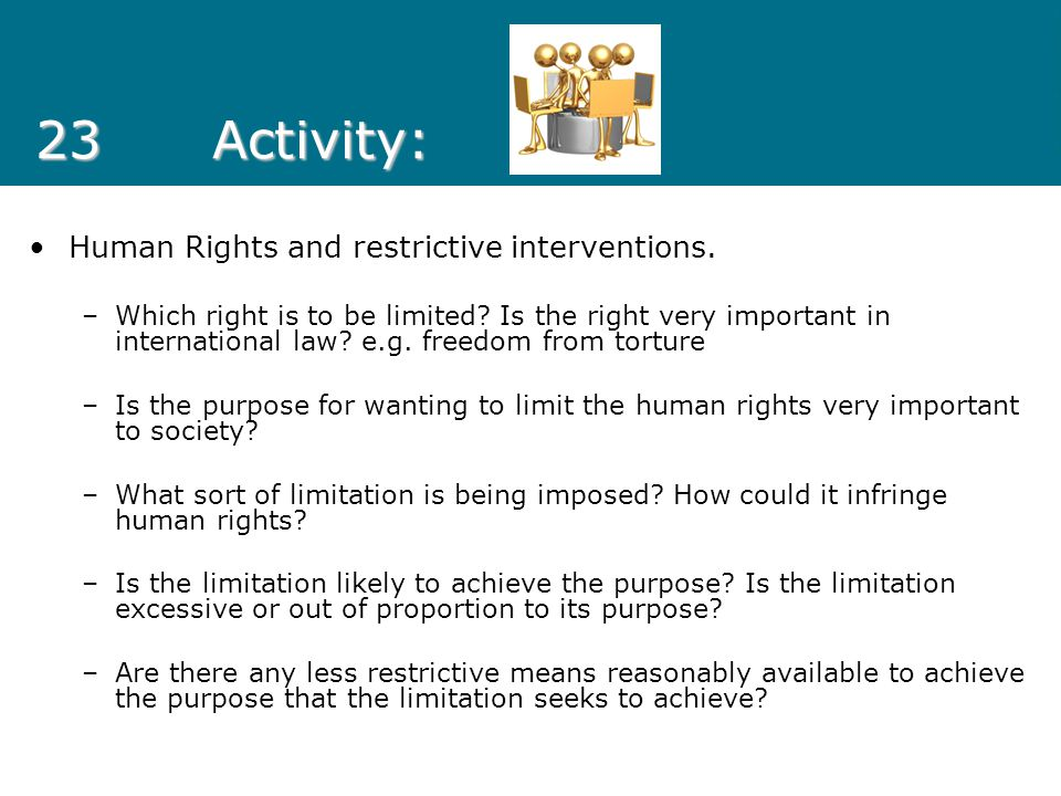23 Activity: Human Rights and restrictive interventions.