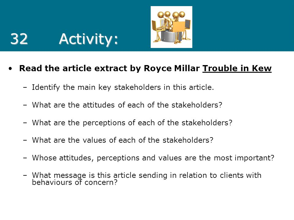 32 Activity: Read the article extract by Royce Millar Trouble in Kew