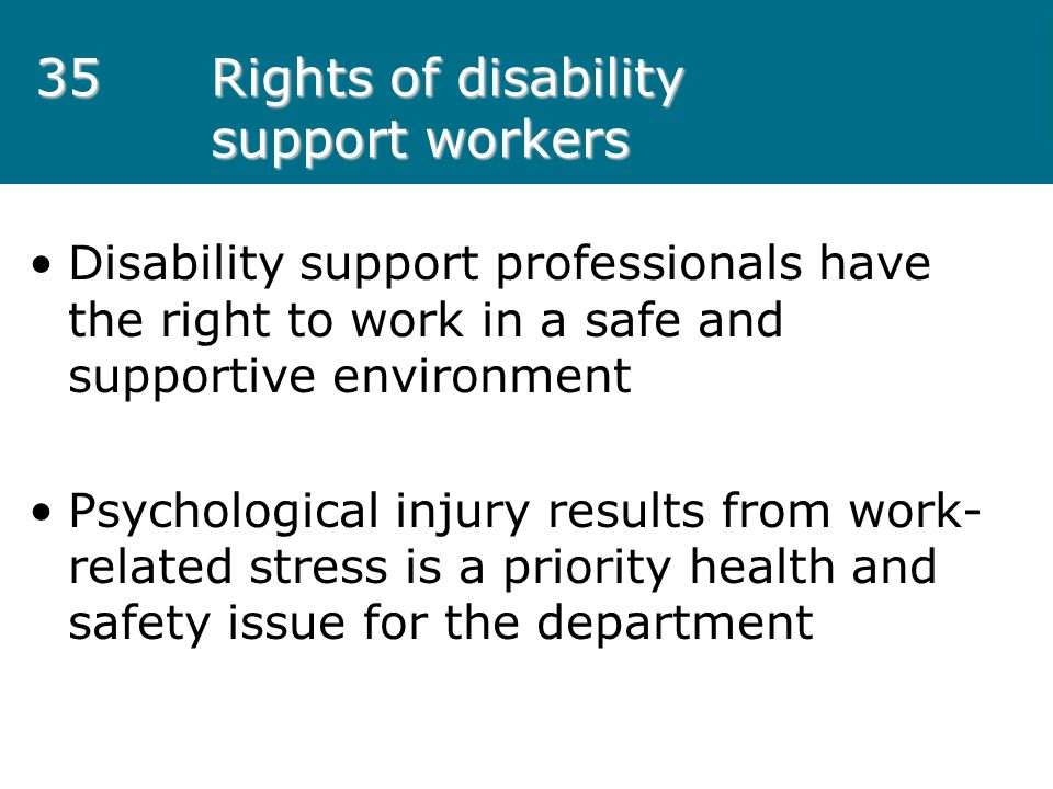 Rights of disability support workers