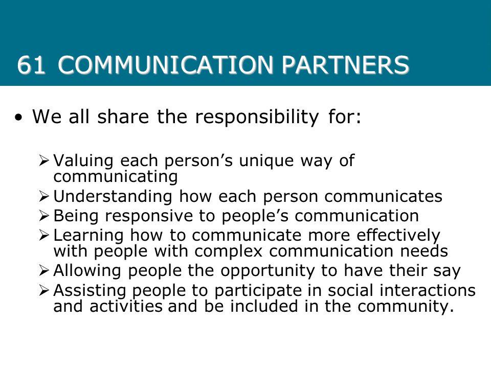 61 COMMUNICATION PARTNERS