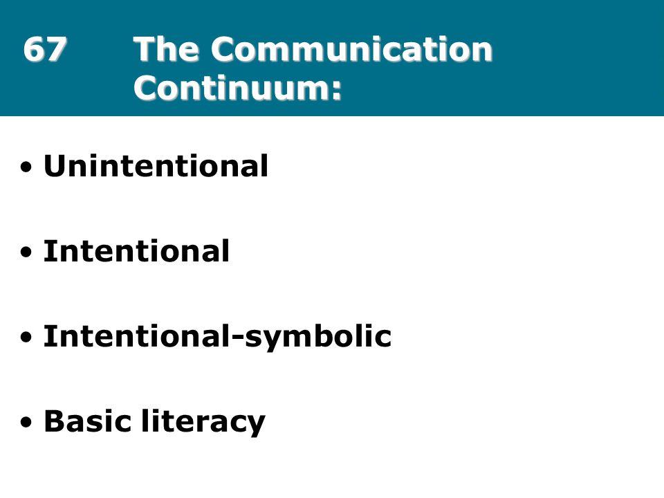67 The Communication Continuum: