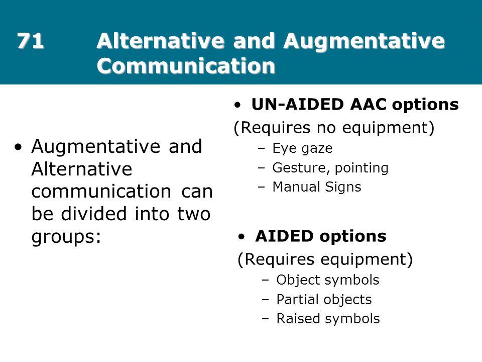 71 Alternative and Augmentative Communication