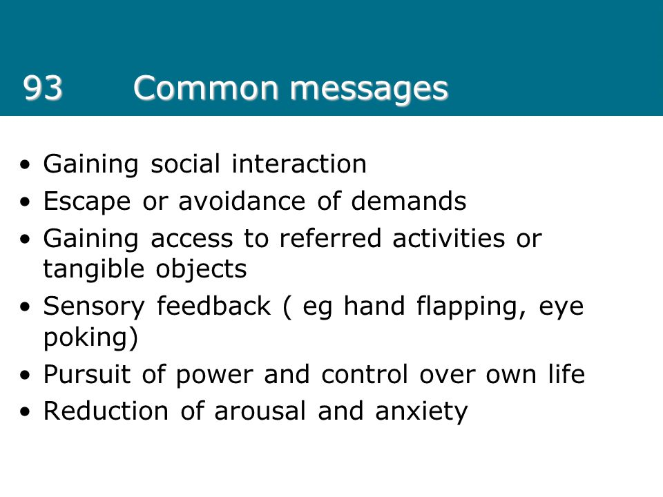 93 Common messages Gaining social interaction