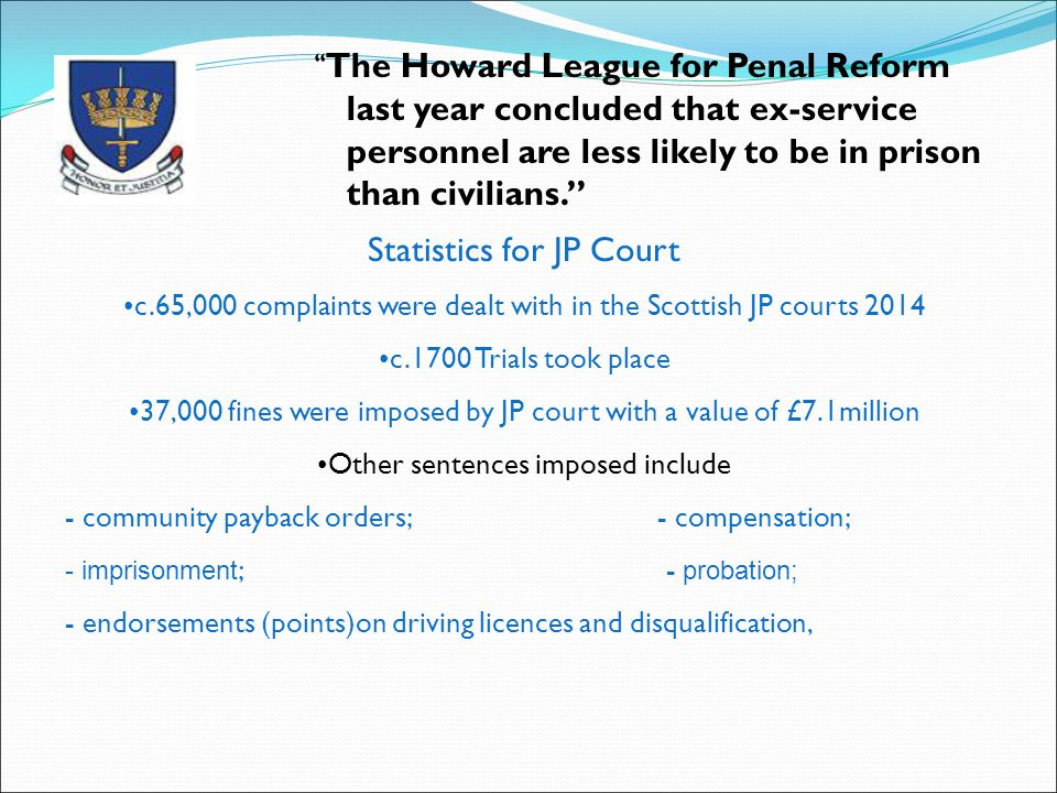 Statistics for JP Court