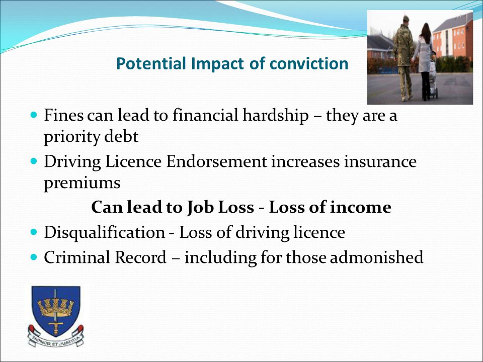 Potential Impact of conviction