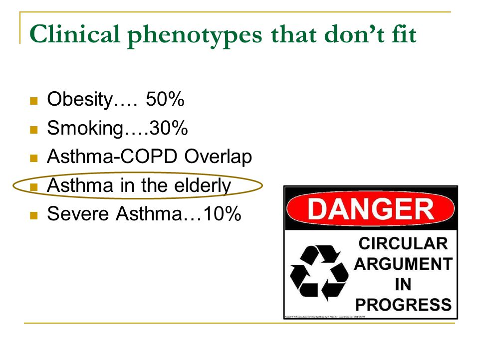 Clinical phenotypes that don't fit