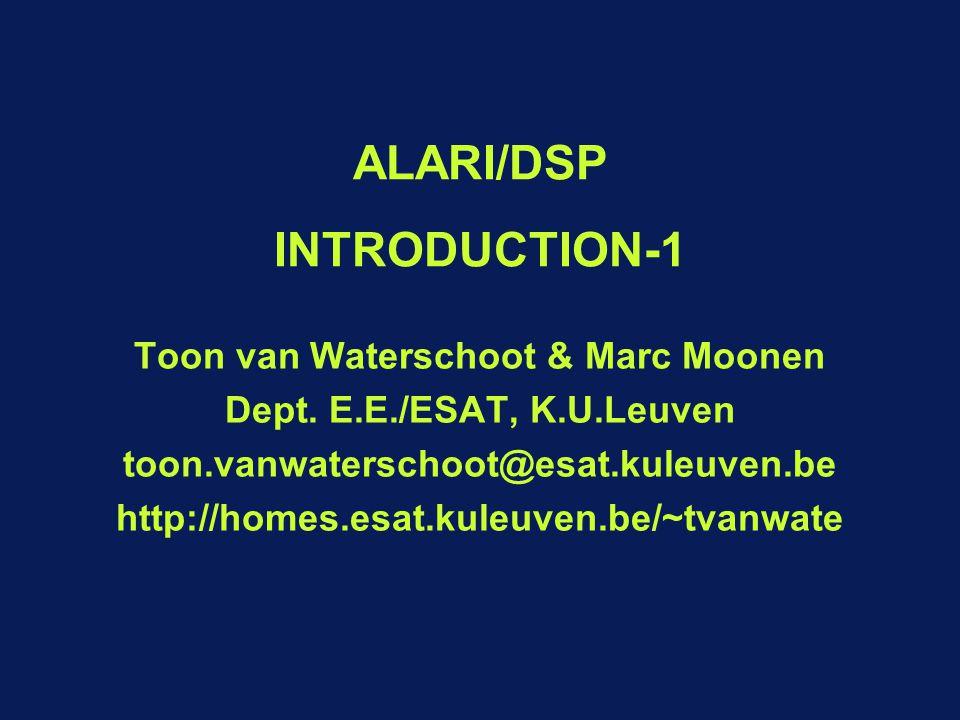 ALARI/DSP INTRODUCTION-1