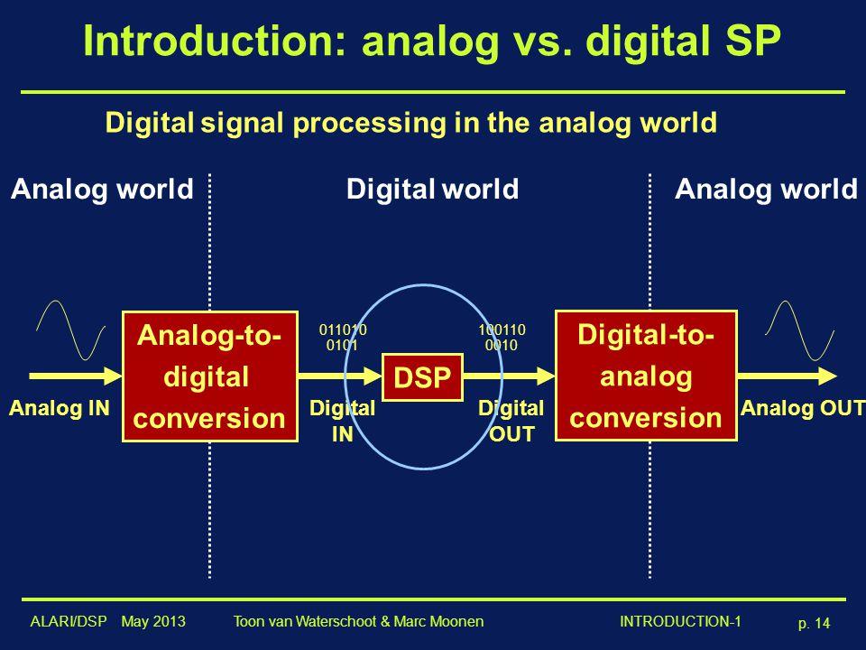 Introduction: analog vs. digital SP