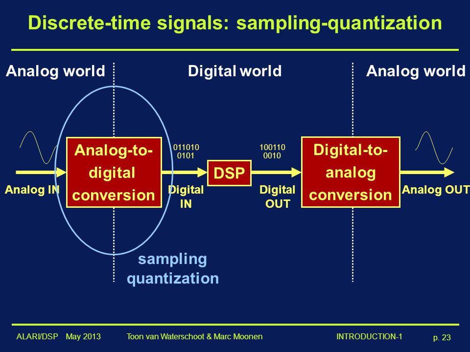 Discrete-time signals: sampling-quantization