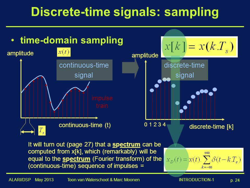 Discrete-time signals: sampling