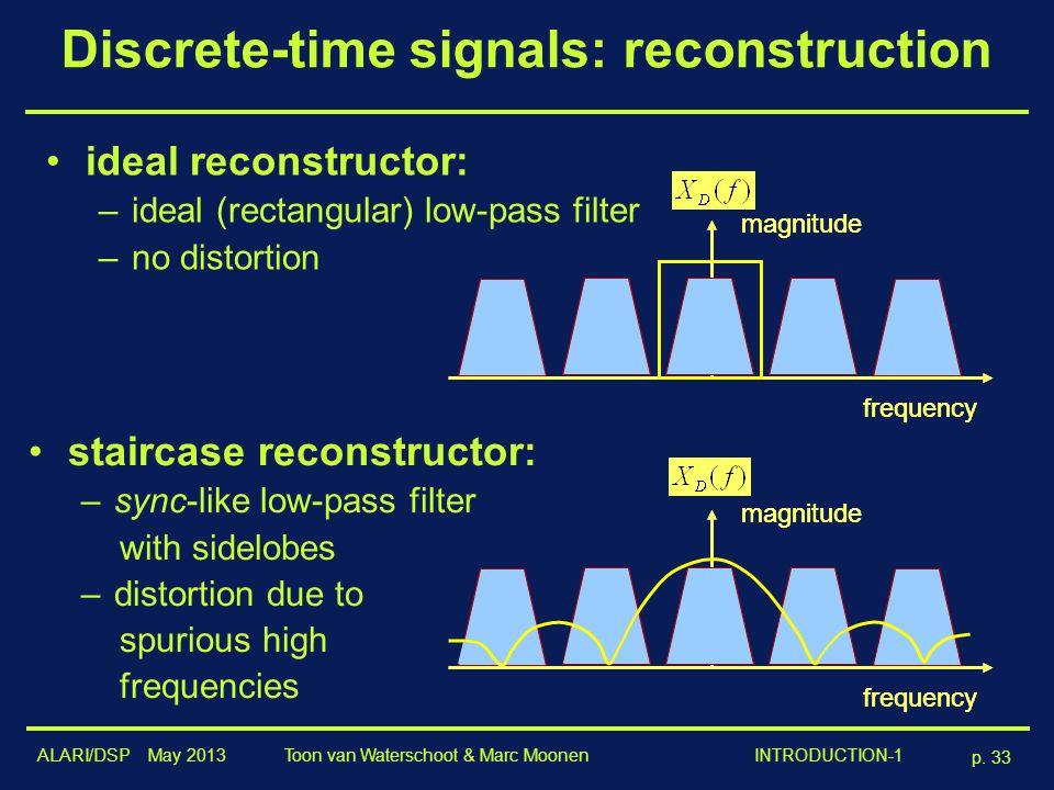 Discrete-time signals: reconstruction