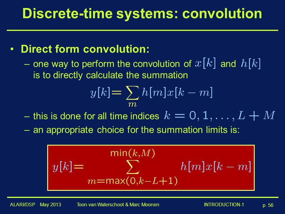 Discrete-time systems: convolution