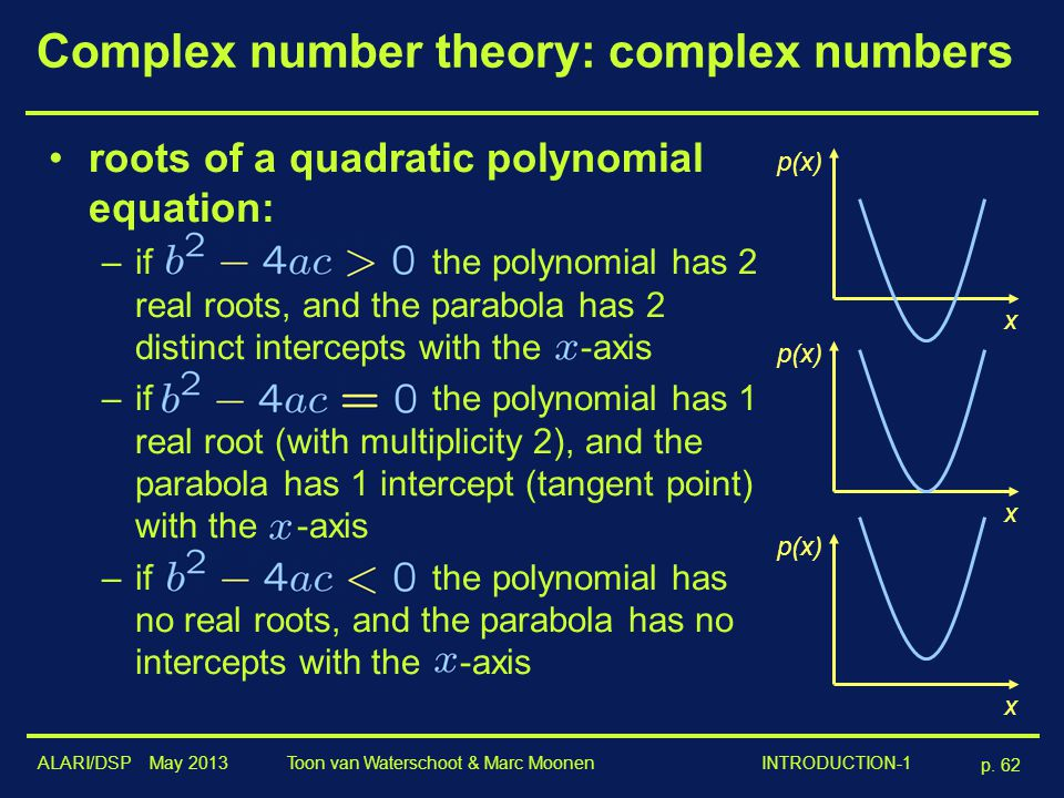 Complex number theory: complex numbers