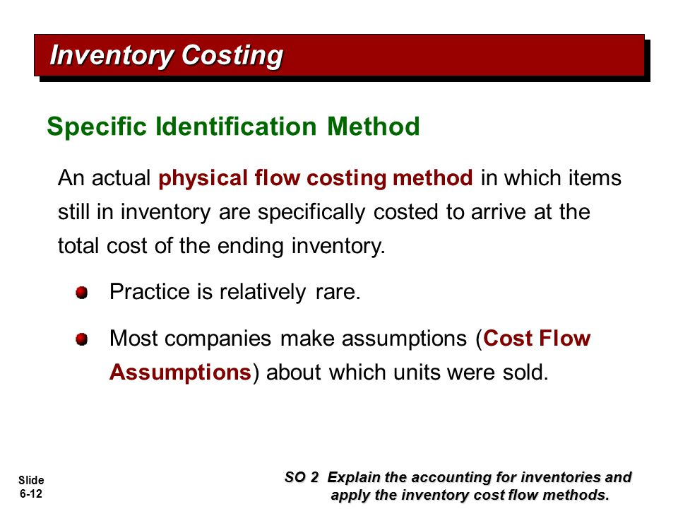 Inventory Costing Specific Identification Method