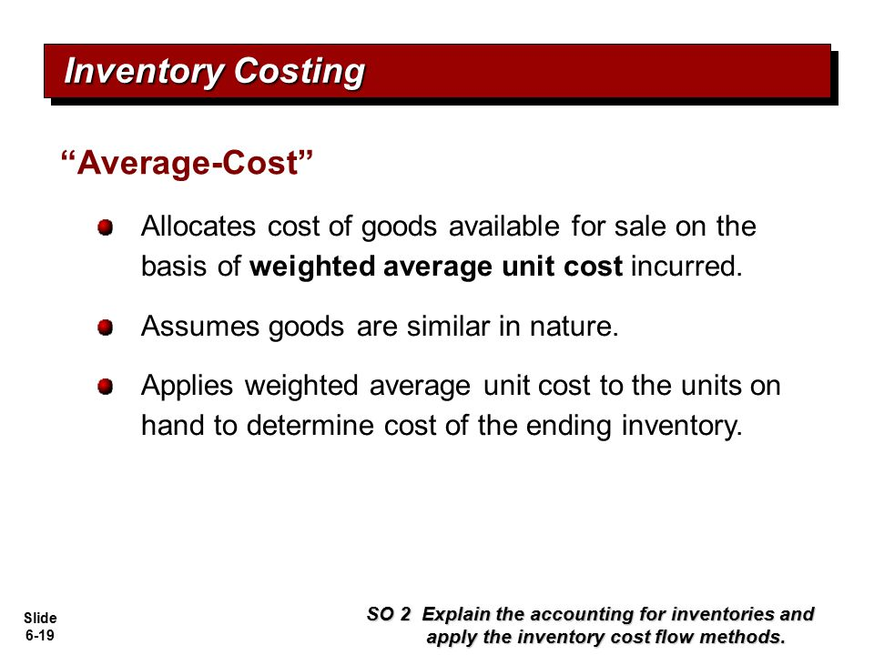 Inventory Costing Average-Cost