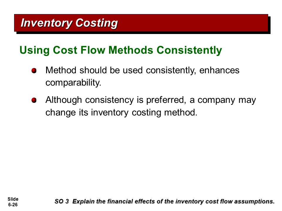 Inventory Costing Using Cost Flow Methods Consistently