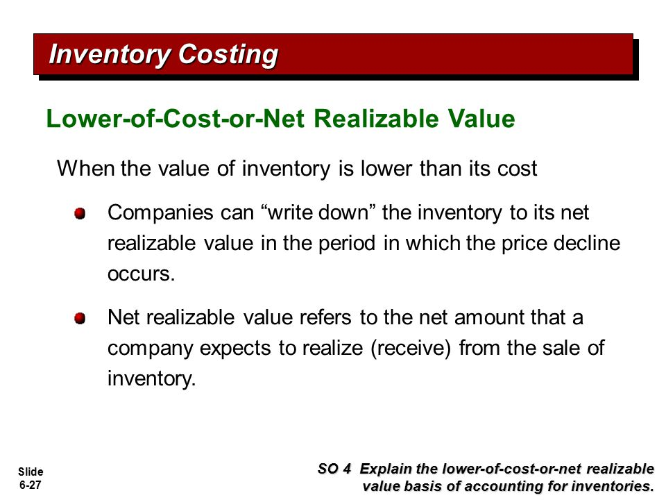 Inventory Costing Lower-of-Cost-or-Net Realizable Value
