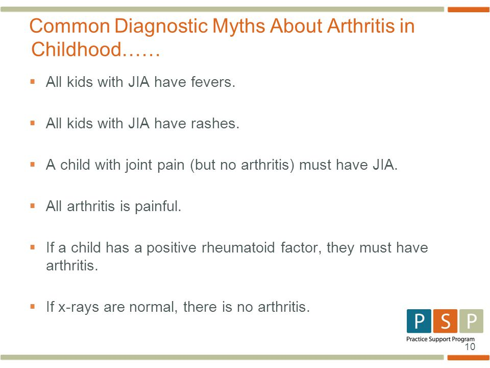 Common Diagnostic Myths About Arthritis in Childhood……