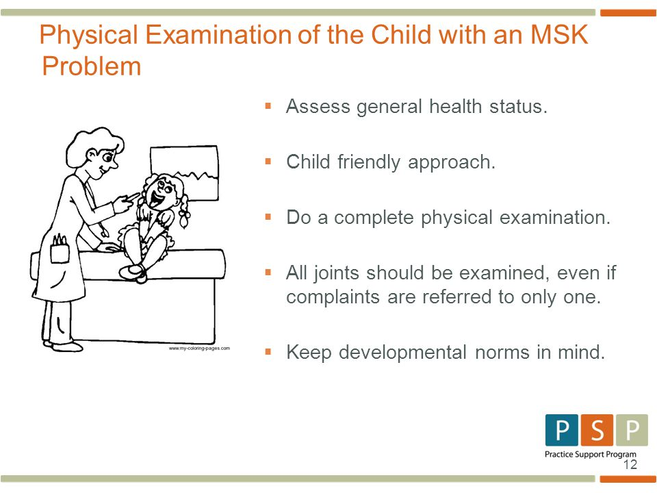 Physical Examination of the Child with an MSK Problem
