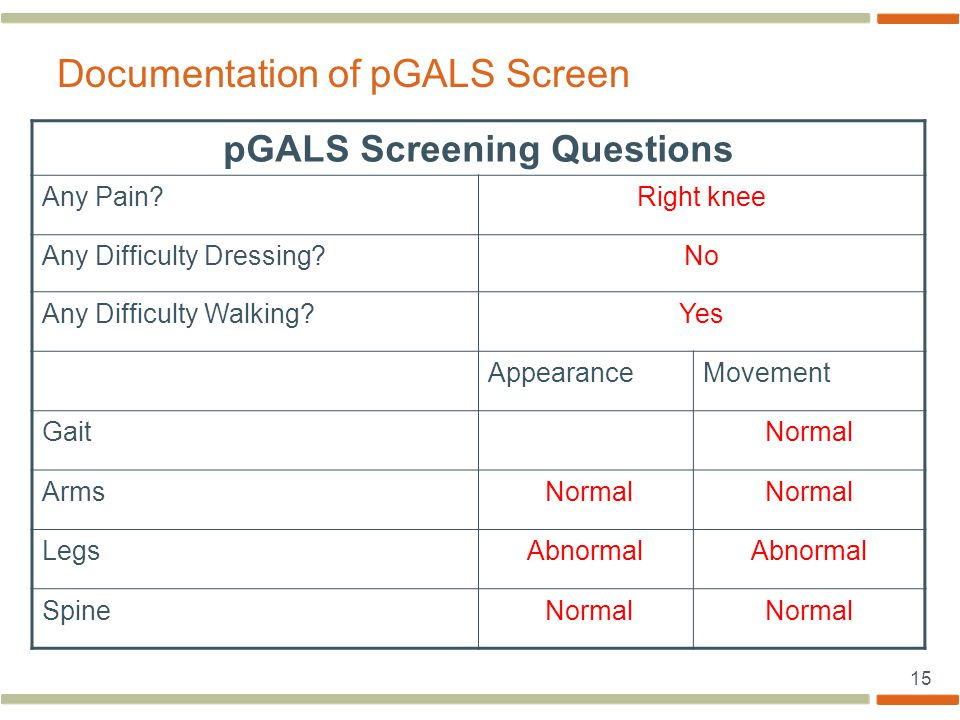 Documentation of pGALS Screen
