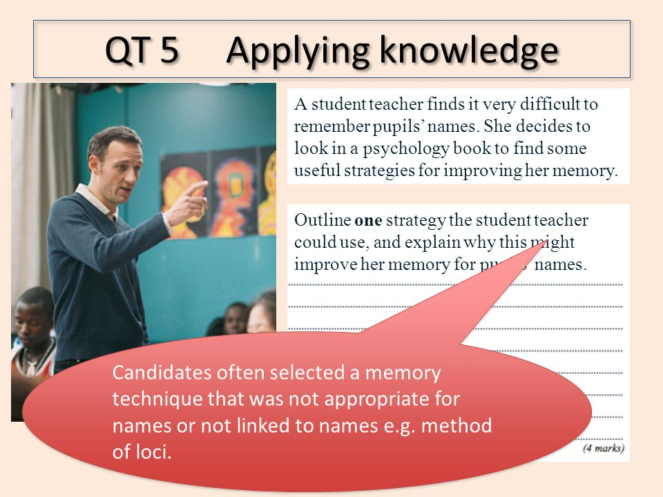 QT 5 Applying knowledge