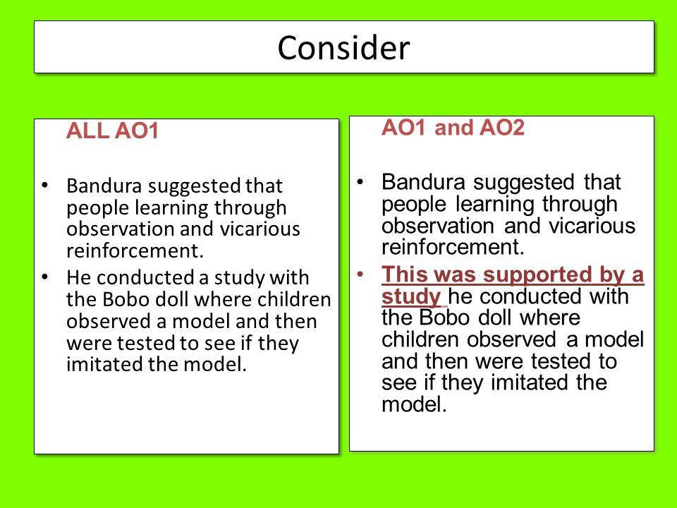Consider AO1 and AO2 ALL AO1