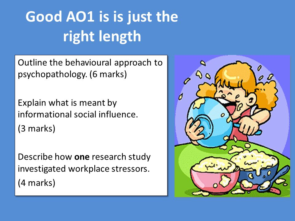 Good AO1 is is just the right length