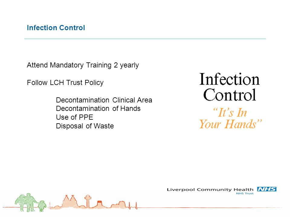 Attend Mandatory Training 2 yearly Follow LCH Trust Policy