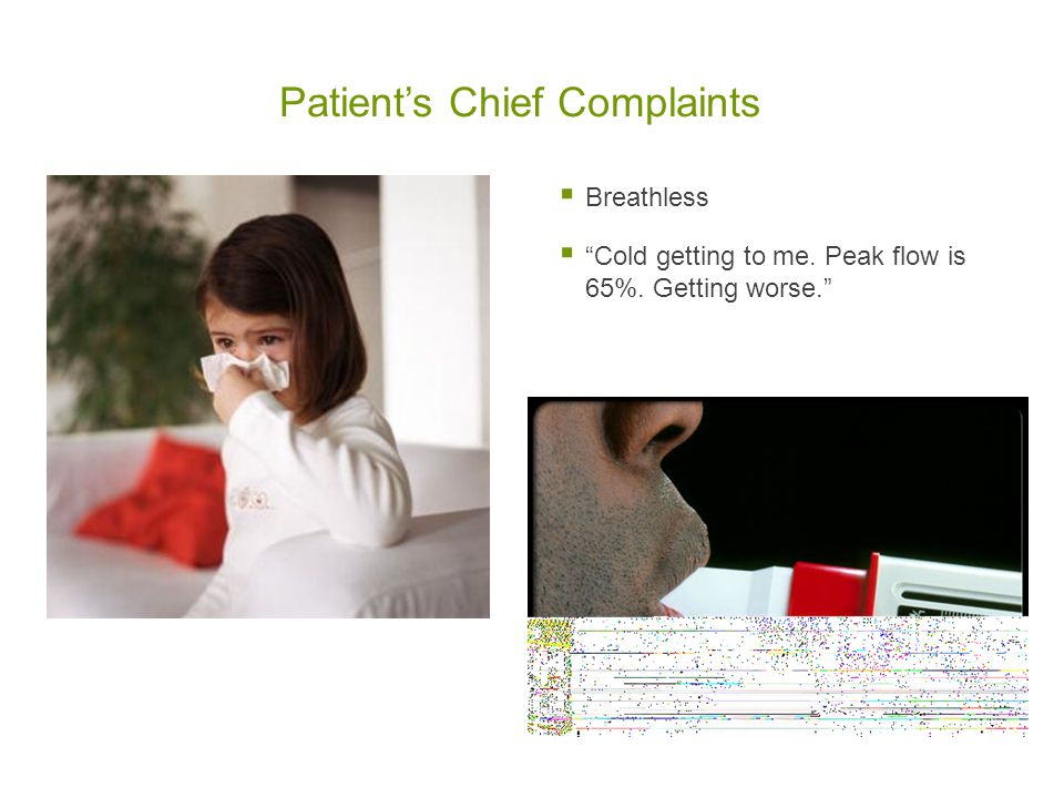 Patient's Chief Complaints