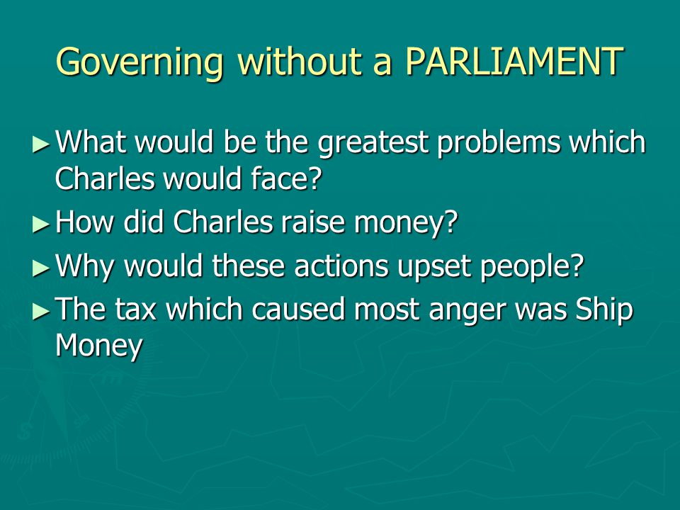 Governing without a PARLIAMENT